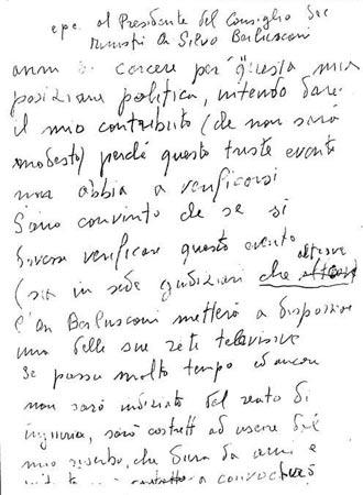 Silvio_lettera dalla mafia
