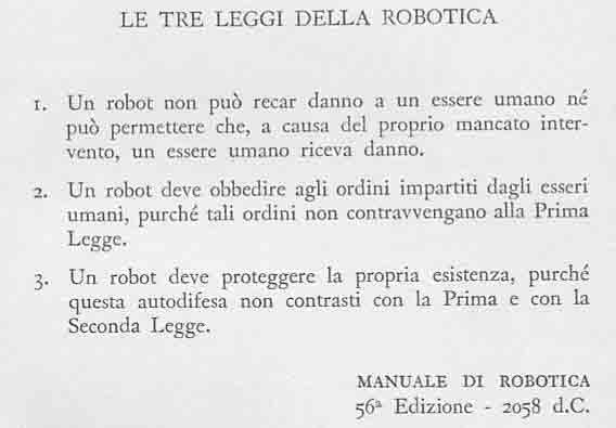 Tre leggi della robotica