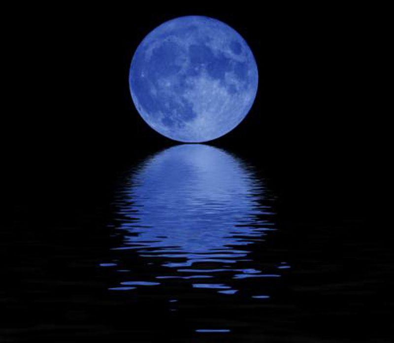 Notte Luna-blù